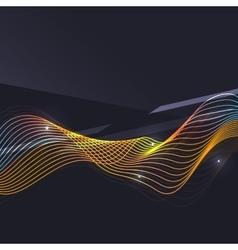 Smoke pattern on dark background vector image