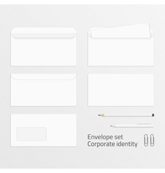 Envelope set corporate identity elements vector image