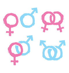 gender icons vector image vector image