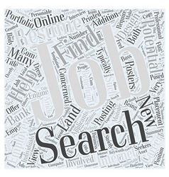Jobs search finding success landing a new career vector