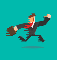 simple flat cartoon of a businessman running vector image
