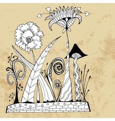 Alien flowers vector image vector image