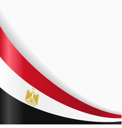 egyptian flag background vector image