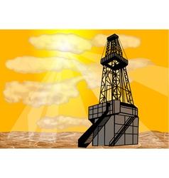 natural gas drilling vector image