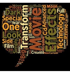 The Transformers Movie text background wordcloud vector image vector image
