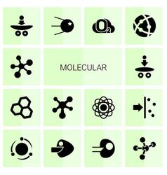 14 molecular icons vector