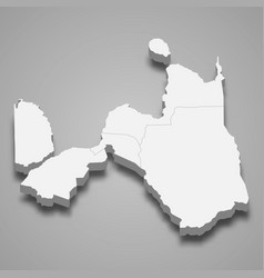 3d isometric map northern mindanao is a region vector