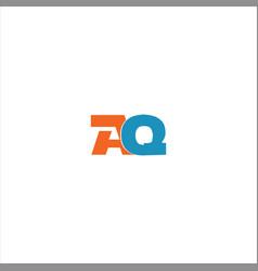 A q letter logo design on black color background vector
