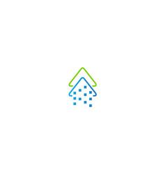 arrow up technology progress logo vector image