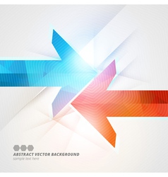 Arrows abstract geometric color background eps10 vector image