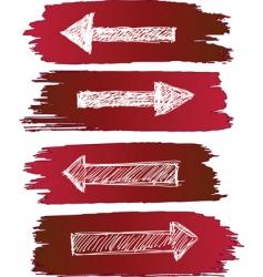 arrows set grunge vector image