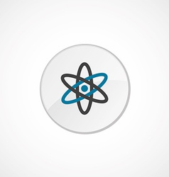 atom icon 2 colored vector image