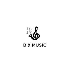 B music logo vector