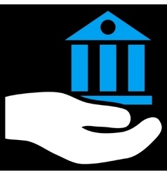 Bank Service Flat Symbol vector image