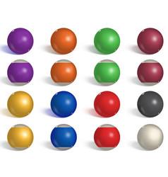 Billiard pool balls collection snooker reverse vector