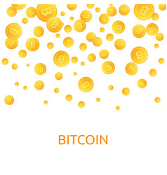 bitcoins money falling coins golden falling vector image