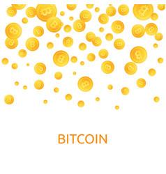 bitcoins money falling coins golden falling vector image