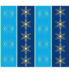 blue pattern with snowflakes vector image