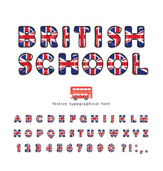 british school font great britain uk national vector image