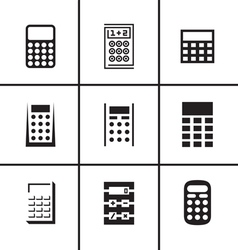 Calculators icons set vector image