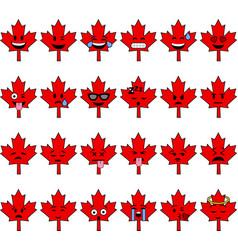 Canada cartoon emojis vector