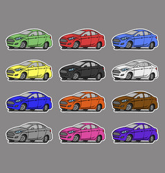 Cartoon cars sticker for boys vector
