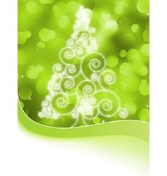 Christmas halftone tree on a green EPS 8 vector image