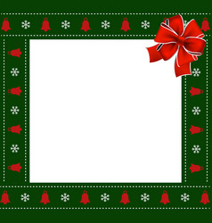 christmas or new year green border with vector image