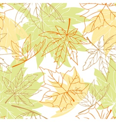 Colorful autumn leaves seamless vector image
