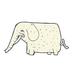 Comic cartoon big elephant vector