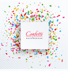Confetti background with text space vector