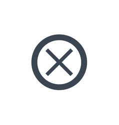 cross mark related glyph icon vector image