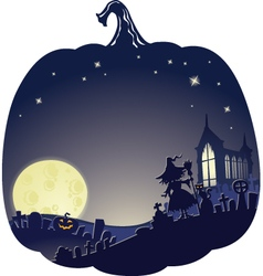 doublhalloweenblue vector image