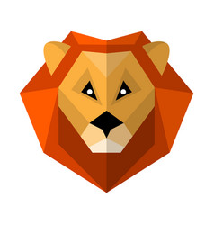 flat style lion icon isolated on a white vector image
