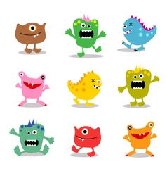 Friendly little monsters set 2 vector
