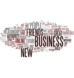 Friendship as the way to get new customers and vector