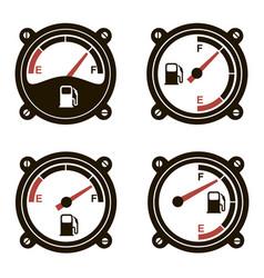 fuel gauges set vector image