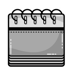 grayscale calendar information to organizer event vector image vector image