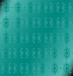 Green apple floral luxury ornamental pattern backg vector
