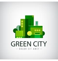 green city buildings eco icon vector image