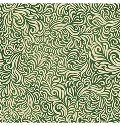green colored abstract fantasy pattern vector image