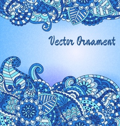 hand drawn vintage card vector image