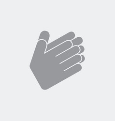 hands in applaud gesture vector image