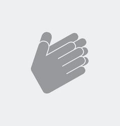 Hands in applaud gesture vector