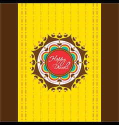 Happy diwali greeting card or poster design vector