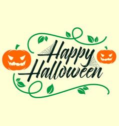 happy halloween poster card vector image
