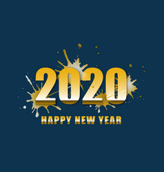 happy new year 2020 with text design vector image