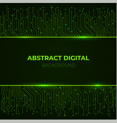 high-tech background from computer green glowing vector image