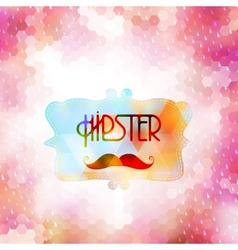 Hipster background on geometric shapes EPS 10 vector image