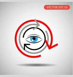 icon eye and arrows eps 10 vector image